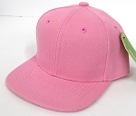 INFANT Baby Blank Snapback Hats & Caps Wholesale - Solid L Pink