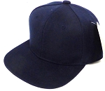 INFANT Baby Blank Snapback Hats & Caps Wholesale - Solid Navy
