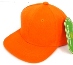 INFANT Baby Blank Snapback Hats & Caps Wholesale - Solid Orange