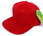 INFANT Baby Blank Snapback Hats & Caps Wholesale - Solid Red