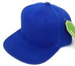 INFANT Baby Blank Snapback Hats & Caps Wholesale - Solid Royal Blue