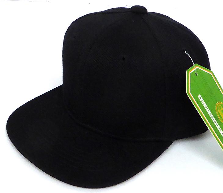 3b54f85e INFANT Baby Blank Snapback Hats & Caps Wholesale - Solid Black