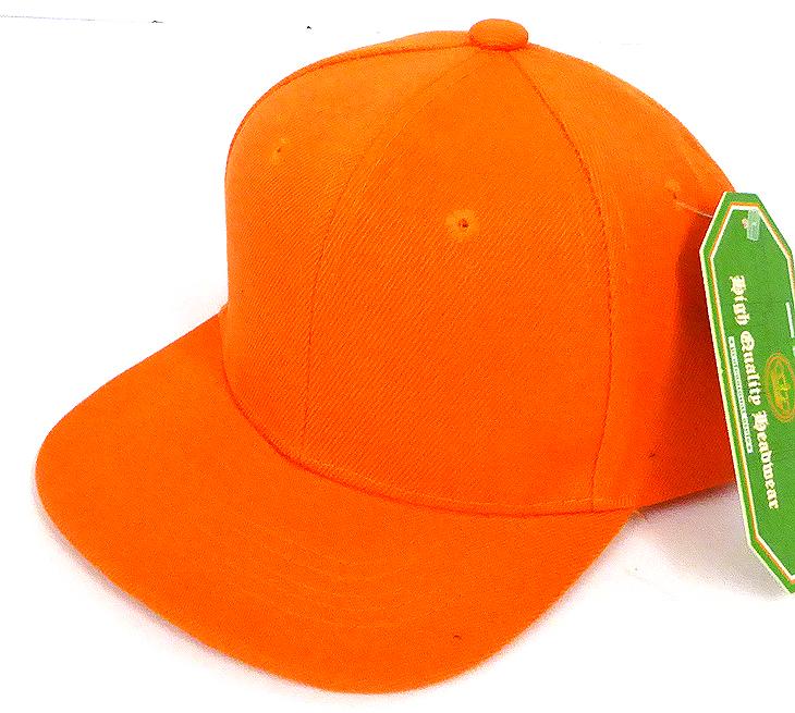 b678964fc3880 INFANT Baby Blank Snapback Hats   Caps Wholesale - Solid Orange