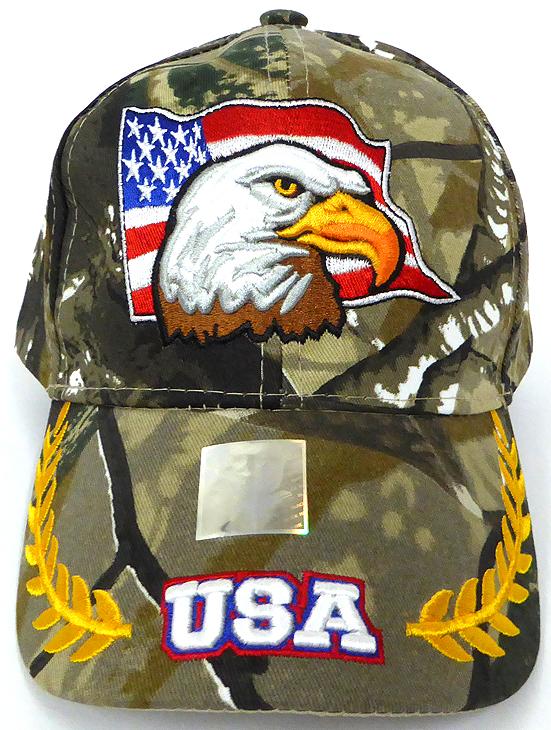 693b4daa Wholesale USA Patriotic Eagle Baseball Cap - Hunting Camo