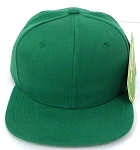 KIDS Junior Wholesale Blank Snapback Hats  - Solid Kelly Green