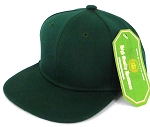 INFANT Baby Blank Snapback Hats & Caps Wholesale - Solid D Green