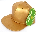 INFANT Baby  Wholesale Faux Leather  Blank Snapback Hats  -   Gold