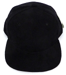 KIDS Junior Wholesale Corduroy Blank Snapback Caps - Solid -  BLACK