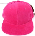 KIDS Junior Wholesale Corduroy Blank Snapback Caps - Solid -  Hot Pink