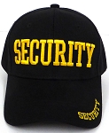SECURITY Caps Wholesale  -  Gold letter embroidery