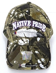 Wholesale Native Pride BallCap - Feather - Hunting Camo
