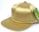 INFANT Baby Blank Snapback Hats & Caps Wholesale - Solid SILK Gold