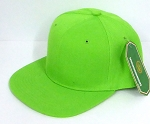 INFANT Baby Blank Snapback Hats & Caps Wholesale - Solid Lime