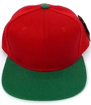 KIDS / Junior Blank Snapback Hats Wholesale -  Red  Kelly Green