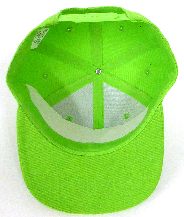 d433beeb6 Blank Kids Jr. Snap back Hats Wholesale - Solid - Lime