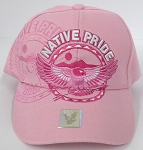 Wholesale Native Pride Baseball Cap - Flying Eagle -  Pink