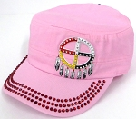 Wholesale Rhinestone Native Pride Cap - Medicine Wheel - Light Pink