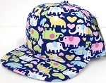 INFANT Baby Blank Snapback Hats & Caps Wholesale Elephant Print - Solid
