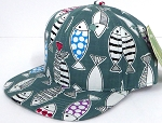 INFANT Baby Blank Snapback Hats & Caps Wholesale Fish - Solid