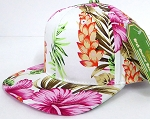 INFANT Baby Blank Snapback Hats & Caps Wholesale Hawaiian Flower  - Solid  Pink