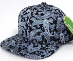 INFANT Baby Blank Snapback Hats & Caps Wholesale Paisley - Solid Black 1