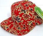 INFANT Baby Blank Snapback Hats & Caps Wholesale Paisley - Solid Red