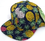 INFANT Baby Blank Snapback Hats & Caps Wholesale Pineapple - Solid Navy