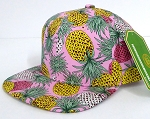 INFANT Baby Blank Snapback Hats & Caps Wholesale Pineapple - Solid Pink