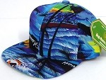 INFANT Baby Blank Snapback Hats & Caps Wholesale Hawaii sunset   - Solid  Blue