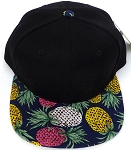 KIDS Jr. Snapback Hats Wholesale - Pineapple   Black Navy