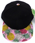 KIDS Jr. Snapback Hats Wholesale -  Pineapple  Black Pink
