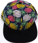 KIDS Jr. Snapback Hats Wholesale -  Pineapple  Navy  Black