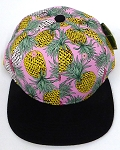 KIDS Jr. Snapback Hats Wholesale - Pineapple Pink Black