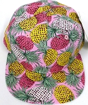 KIDS Jr. Snapback Hats Wholesale -   Pineapple  Pink