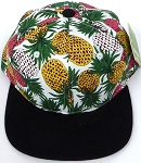 KIDS Jr. Snapback Hats Wholesale - Pineapple   White  Black
