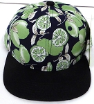 KIDS Jr. Snapback Hats Wholesale -  Green Lemon  Black