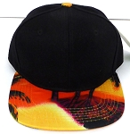 KIDS Jr. Snapback Hats Wholesale -  Hawaiian Sunset - BLACK Gold