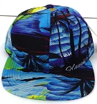 KIDS Jr. Snapback Hats Wholesale -  Hawaiian Sunset - Blue Solid