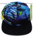 KIDS Jr. Snapback Hats Wholesale -  Hawaiian Sunset - Blue Black