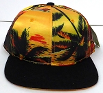 KIDS Jr. Snapback Hats Wholesale -  Hawaiian Sunset - Gold Black