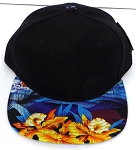 KIDS Jr. Snapback Hats Wholesale -  Hawaiian Sunset - BLACK Blue