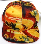 KIDS Jr. Snapback Hats Wholesale -  Hawaiian Sunset - Gold Solid