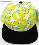 KIDS Jr. Snapback Hats Wholesale -  Yellow Lemon  Black