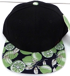 KIDS Jr. Snapback Hats Wholesale - Black Green Lemon