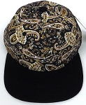 KIDS Jr. Snapback Hats Wholesale -  Paisley -    Brown  Black