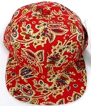 KIDS Jr. Snapback Hats Wholesale -  Paisley -  Red