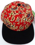 KIDS Jr. Snapback Hats Wholesale -  Paisley - Red Black