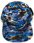 Wholesale Coconut Tree Floral Blank Snapback Hat - Solid Blue Yellow