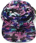 Wholesale Coconut Tree Floral Blank Snapback Hat - Solid Pink