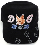 Wholesale Rhinestone Castro Caps - Dog Mom - Black
